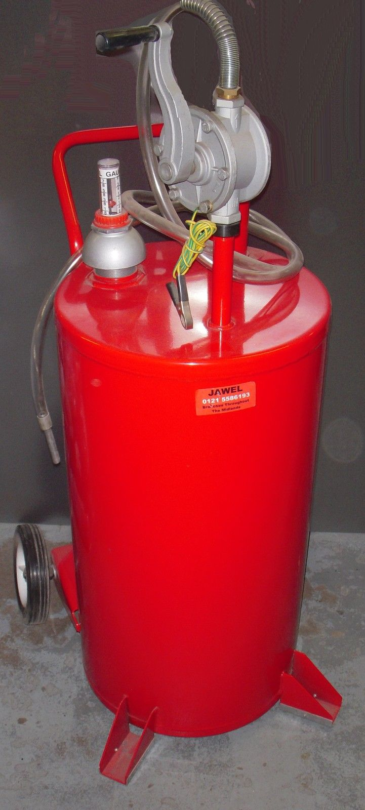 Oil Drainer 25 Gallon Tank Mobile